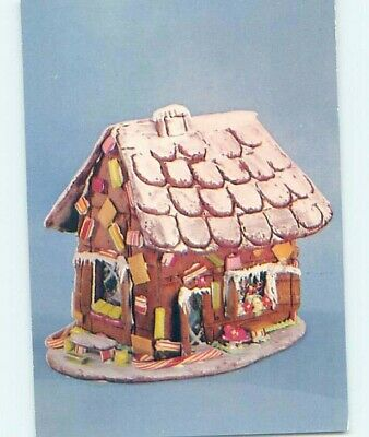 1954 Postcard Ad GINGERBREAD HOUSES FOR SALE F0380