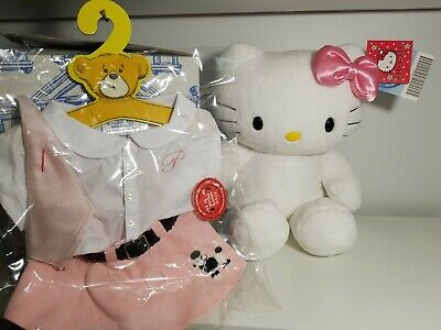 "Build A Bear Hello Kitty Plush Toy w/ Outfit 17"" New"