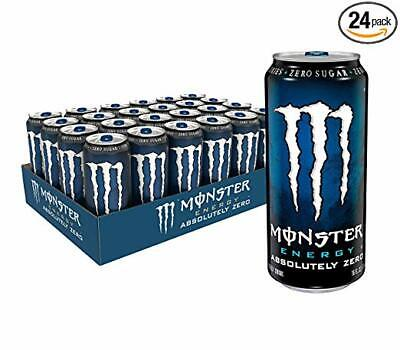 Monster Energy Absolutely Zero, Low Calorie Energy Drink, 16 Ounce (Pack of 24)