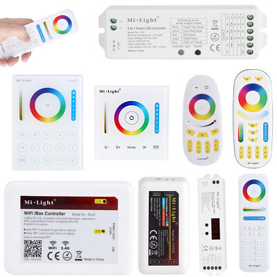 Milight 2.4G WiFi LED Touch Panel remote Controller for CCT/RGB/RGBW Strip Light
