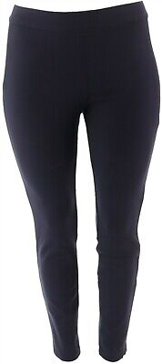 Martha Stewart Ponte Knit Pull-On Ankle Length Pants Navy 6 NEW A342534