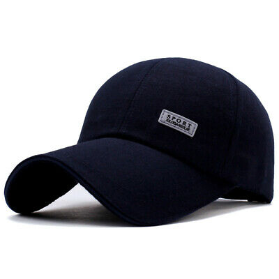 New Men Plain Washed Cap Style Cotton Adjustable Baseball Cap Blank Solid Hat