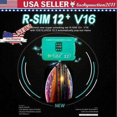 Lot R-SIM14 V18/12+V16 Nano Unlock Card for iPhone XS MAX/XR/8/7/6 iOS12 11 NEW