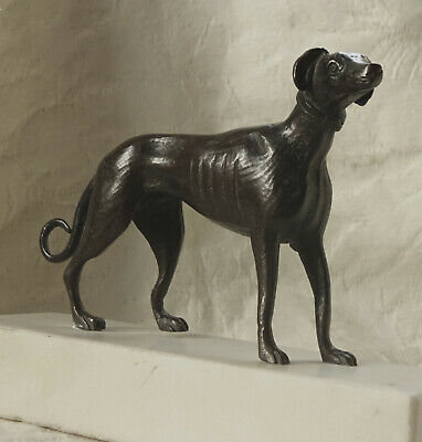 Antique Bronze sculpture of a Greyhound Dog on Marble Base. c. 1900 or before