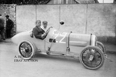 Darracq factory racer Rene Thomas 1921 French Grand Prix Le Mans photo auto race
