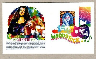 2019 Woodstock  Stamp ~ Panda #1 First Day Cover~Janis Joplin Combo ~ Dcp Cancel