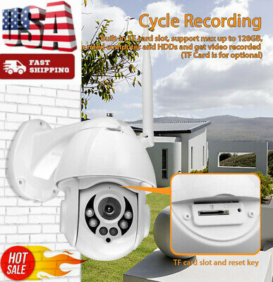Wireless HD 1080P WiFi 5X ZOOM CCTV Outdoor IP Camera Home Security IR Webcam~