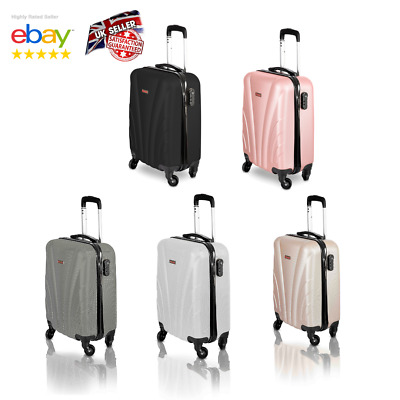 Ryanair Small 4 Wheels Suitcase Travel Cabin Bag Carry On Hand Luggage Hard Case