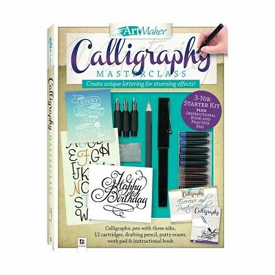 Complete Calligraphy Art Maker Masterclass Kit Nibs Cartridge Lettering Work Pad