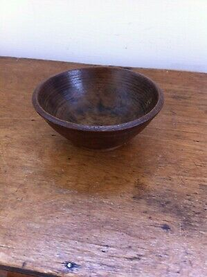 LOVELY SMALL DECORATIVE ANTIQUE WOODEN KITCHEN / CHILDS EATING BOWL 3.9 inches