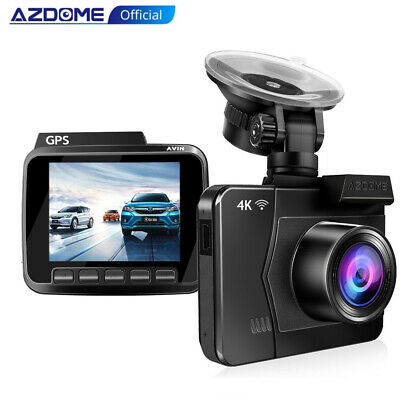 AZDOME Ultra HD 4K Dash Cam GPS WiFi Car Camera with 170°Wide Angle Night Vision