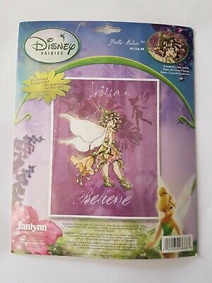 Janlynn Disney Tinkerbell Cross stitch kit - Prilla Believe - Printed Background