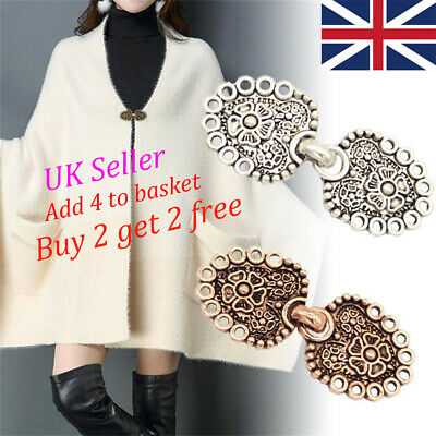 Retro Cardigan Clip Shawl Brooch Sweater Blouse Collar Clasps Chain Charm Gift