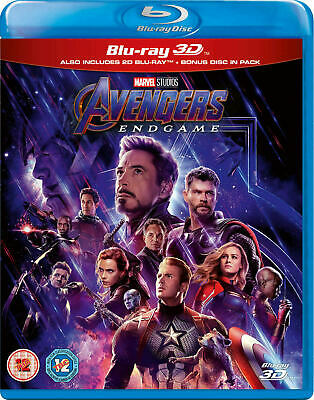 Avengers End Game 3D Bluray (Region Code Not Required)