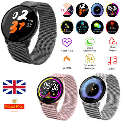 Women Mens Waterproof HD Smart Watch Fitness Bracelet For iPhone Android Samsung