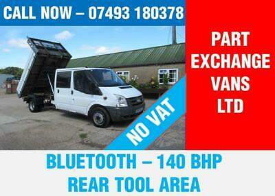 Ford Transit 350 Doublecab Tipper Lwb 140 Bhp 3 Seats