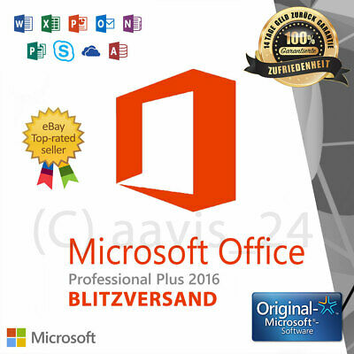 Microsoft Office 2016 Professional Plus ✓ Produkt  Key ✓ Vollversion ✓ 32/64 BIT