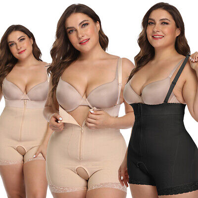 Plus Size Womens Fitted Corsets Shapewear Ladies Strappy Shaping Shorts Jumpsuit