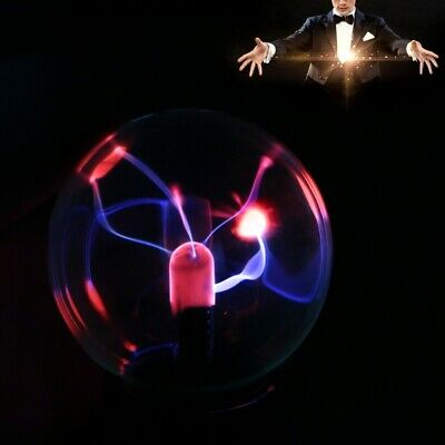 Magic USB Glass Plasma Ball Sphere Lightning Lamp Light Party Black Bases