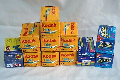 11 Assorted 100/200/400 Asa Colour Print Films(Out Of Date)