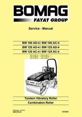 PDF Download Bomag Service Manual Tandem Vibratory / Combination Roller BW 100
