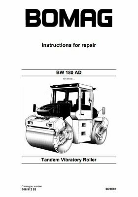 PDF Download Bomag Workshop Service Manual Tandem Vibratory Roller BW 180 AD
