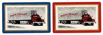 """U.S. """"MOTOR FREIGHT CORP."""" AD   Pair of Vintage Swap/Playing Cards"""