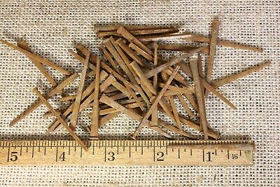 "1 3/4"" Old square NAILS 1/8"" finish head 50 qty vintage 1880's iron  rust patina"