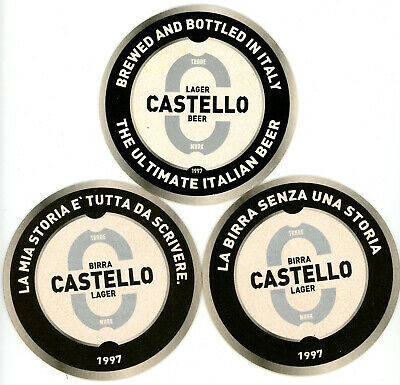 Series of 6 coasters BIRRA CASTELLO microbrewery from Italy