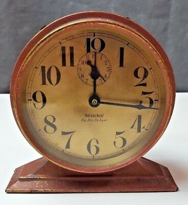 1927 Westclox Big Ben De Luxe Wind-Up Alarm Clock PARTS REPAIR 518-s22