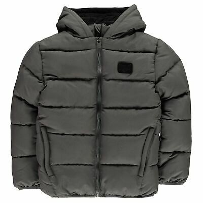 Everlast Bubble Jacket Youngster Boys Puffer Coat Top Full Length Sleeve Hooded
