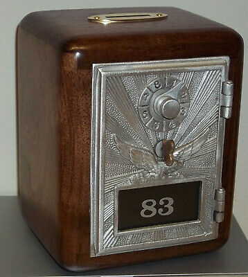 Walnut Post Office Box Door Bank-1940's WWII Eagle