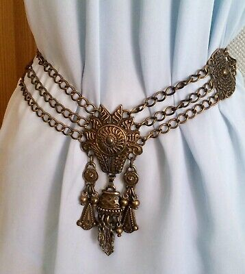Reneissance Revival Gilt Metal Girdle Chatelaine Belt Game Of Thrones Steampunk