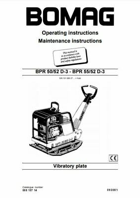 PDF Digital Downoad Bomag Operating Maintenance Instructions BRP 50 52 55 D-3