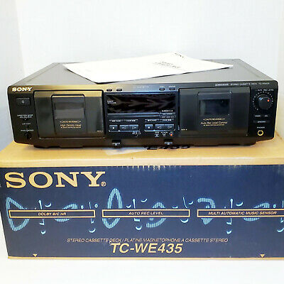 Sony Dolby Cassette Tape Deck Double Dubbing Recorder Player   TC-WE435