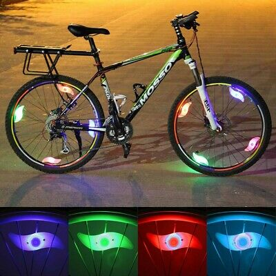 4X Colorful LED Tyre Wheel Light Lamp Bicycle Cycling Bright Flashing Lamp Decor