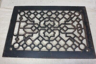 "Heat Air Grate register only Victorian old rustic 13 3/4 x 9 5/8"" vintage 1800's"
