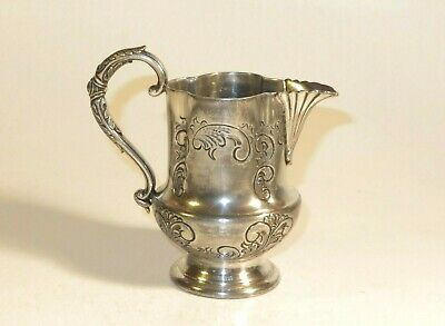 Nice 19Th Century Silver And Pewter Jug