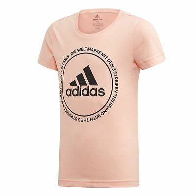 adidas Train Prime T Shirt Youngster Girls Short Sleeve Performance Tee Top Crew