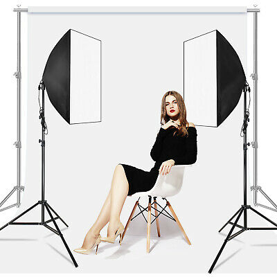 [2-Pack] Lighting Softbox Photography Photo Stand for Lighting Kit Equipment