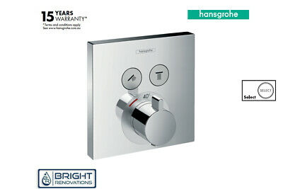 Genuine Hansgrohe ShowerSelect Thermostat for 2 functions
