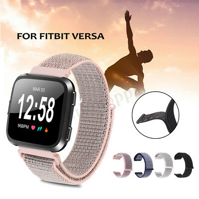 For Fitbit Versa Fitness Smart Watch Band Nylon Woven Wrist Strap