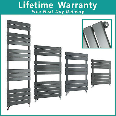 Anthracite Flat Panel Modern Design Heated Towel Rails Bathroom Ladder Radiator