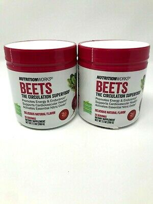 Beets Super Food By NutritionWorks 20 Servings All Natural Gluten Free Lot of 2