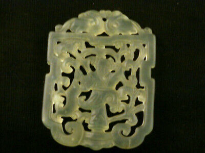 Wonderful Chinese Nephrite Jade *2Dragons/Boy* 2Faces Pendant K095