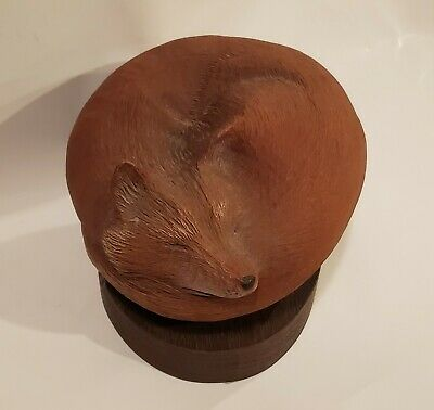 Rick Cain Encompass Art Carving Sculpture Limited Edition 443/5000 Red Fox