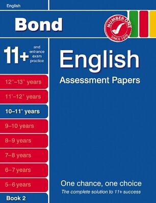 Bond English Assessment Papers Papers 10-11+ Years Book 2.,Sarah Lindsay