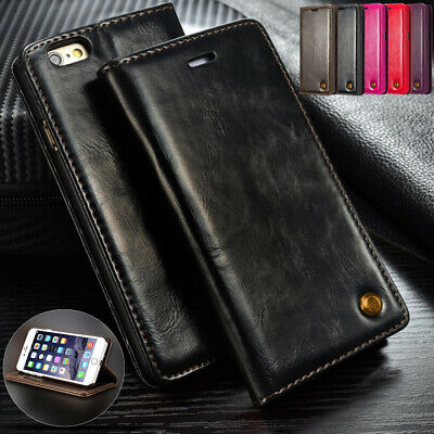 Real Leather Book Flip Wallet Phone Case Cover For Apple iPhone 6 6s 7 8 PLUS XS