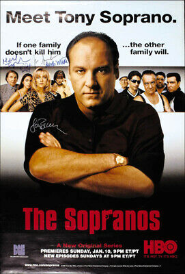 The Sopranos Tv Cast - Autographed Signed Poster With Co-Signers