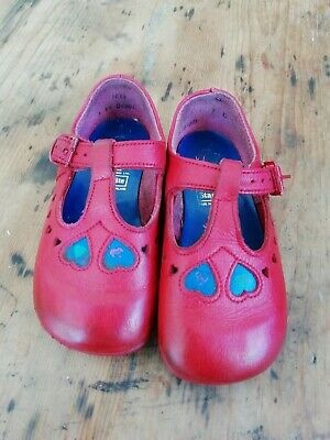 Vintage Start Rite Girls Shoes Red Size 23